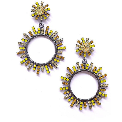 Everly Starburst Earrings Yellow