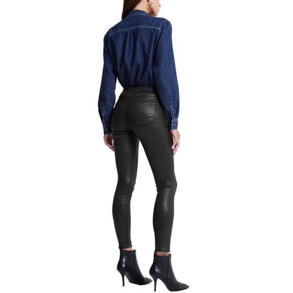 Farrah Ankle Skinny Leatherette Super Black