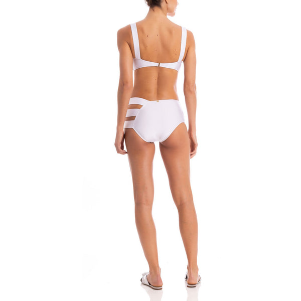 Cut Out Hot Pants Bikini With Tortoise Detail