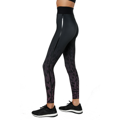 Jaguar Ultra High Legging Berry and Patent Nero