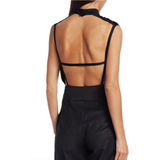 Fabienne Black Satin Jumpsuit