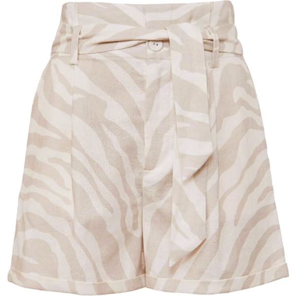 Kinsley Shorts Cream Zebra Print