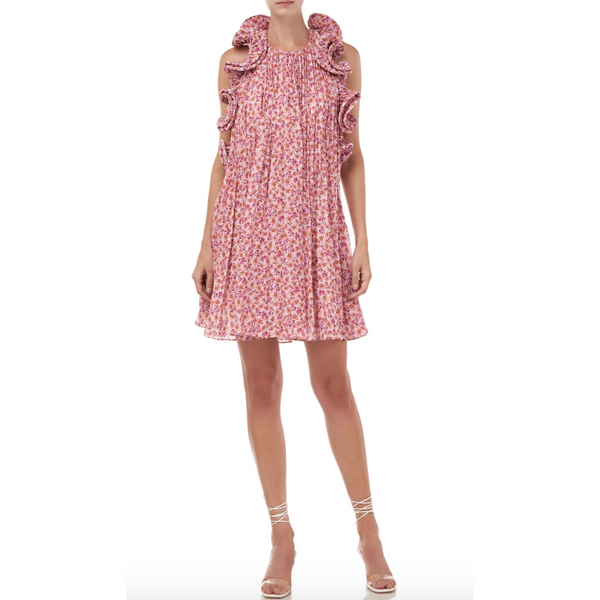 Mimi Dress Bright Orchid Ditsy Floral