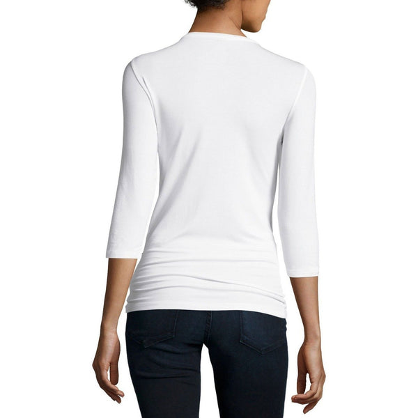 Soft Touch Three-Quarter Sleeve Scoop Neck