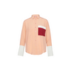 Color Block Shirt Dusty Rose