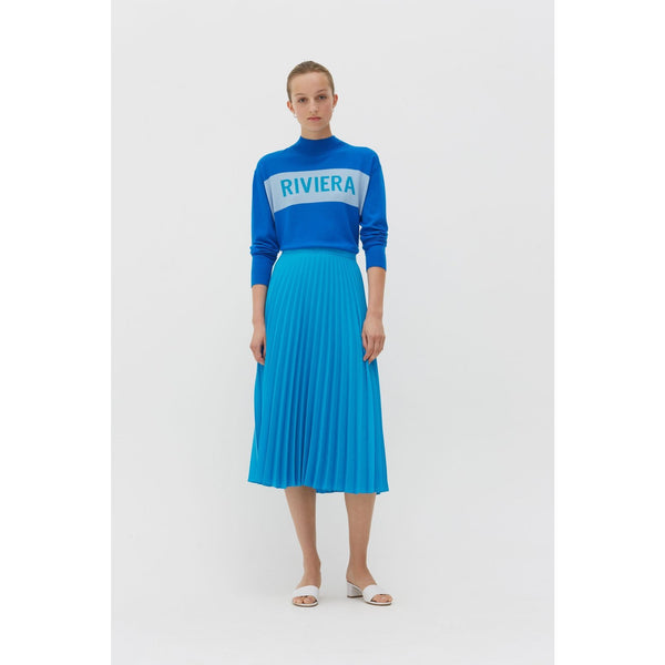 Pleated Skirt Turquoise