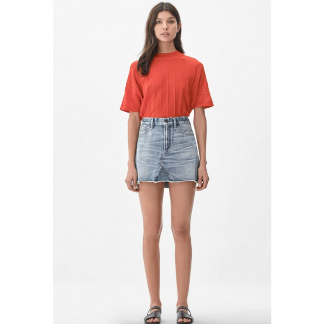 Cutoff Denim Miniskirt Freebird