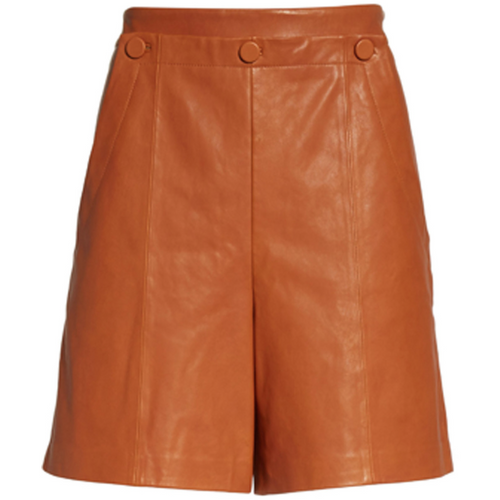 Leather Short with Sailor Button Detail