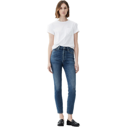 Olivia High Rise Slim Ankle Jean Backroad
