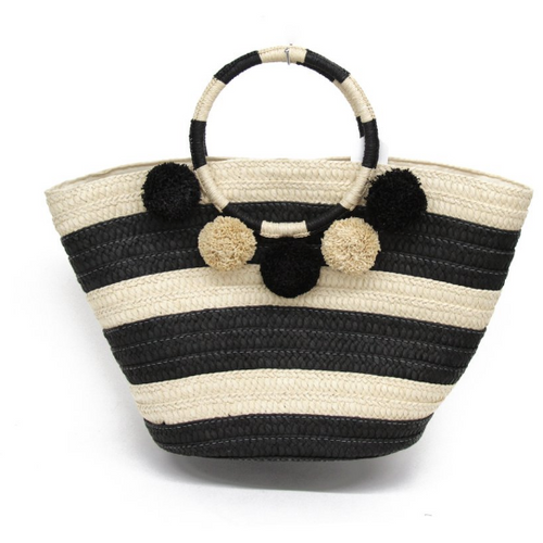 Around The World Tote Black & Cream