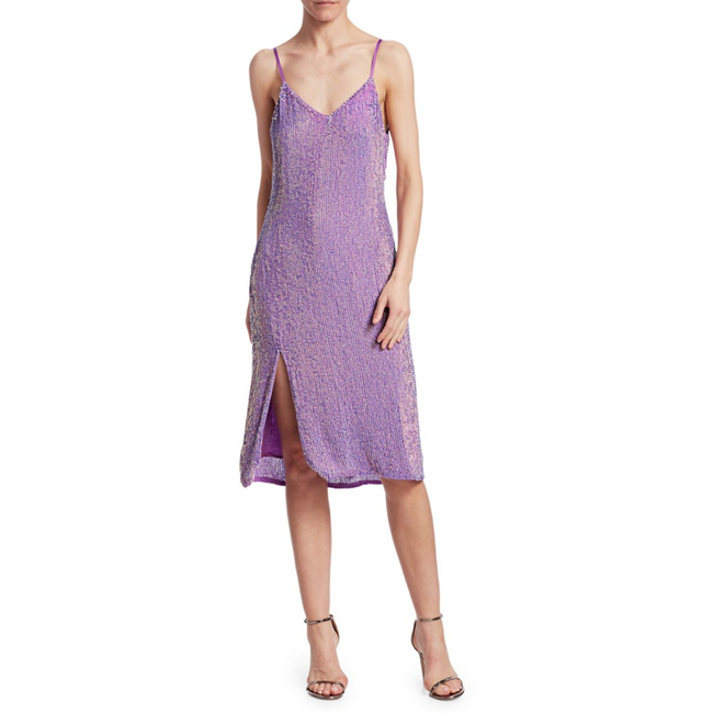 Denisa Dress Metallic Lavender