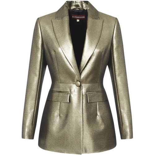 Tailored Metallic Blazer