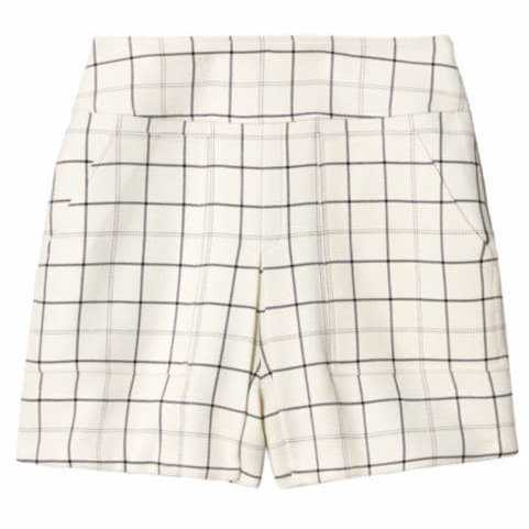 Windowpane Cargo Skort
