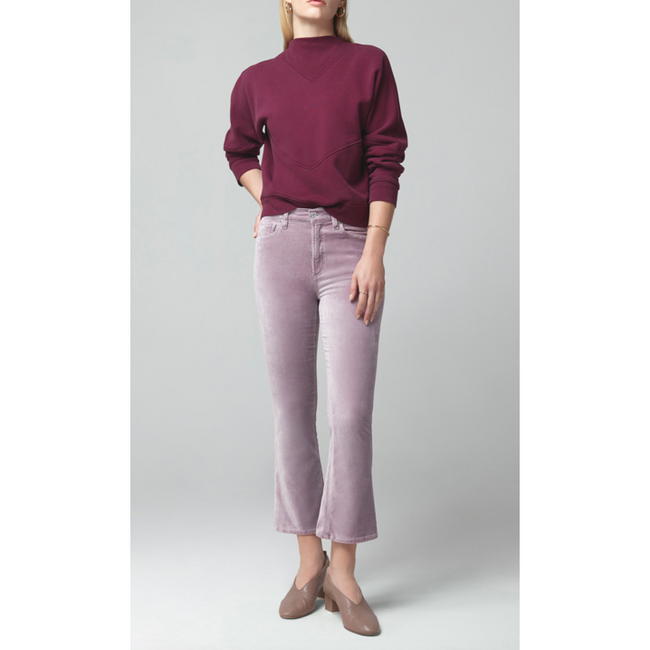 Demy Cropped Flare Amethyst