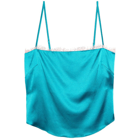 Velvet Empire Crop Bell Bottle Blue