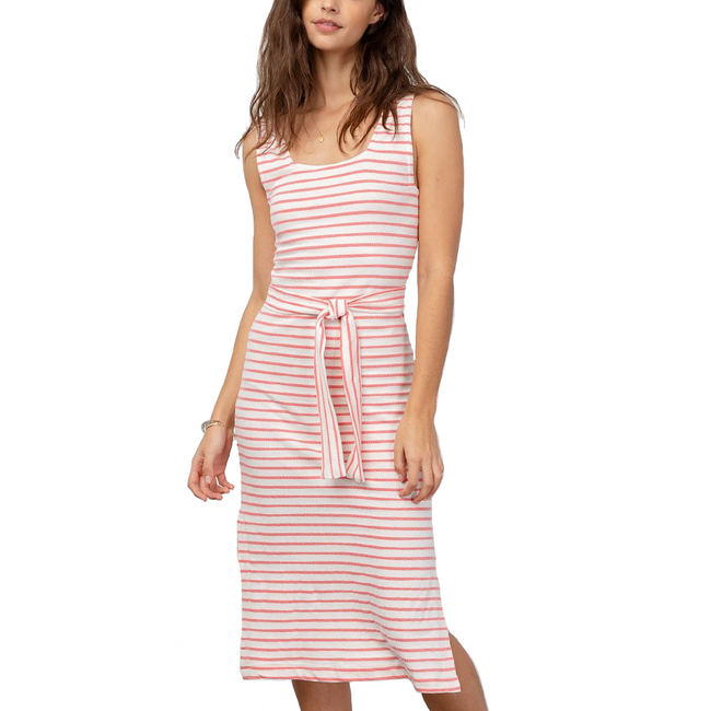 Taylin Dress Ivory Peony Stripe