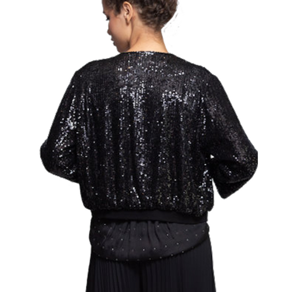 Sequin Cardigan Black