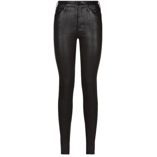 Rocket Ankle High Rise Skinny Black Leatherette