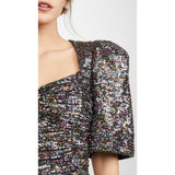Confetti Sequin Puff Top