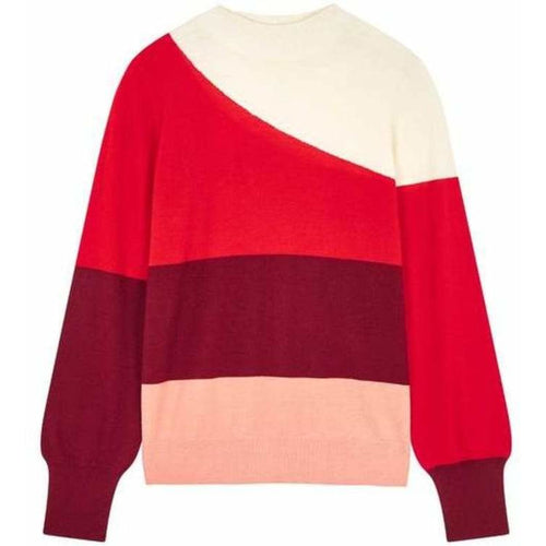 Curve Sweater Cream Red Berry Dusty Rose