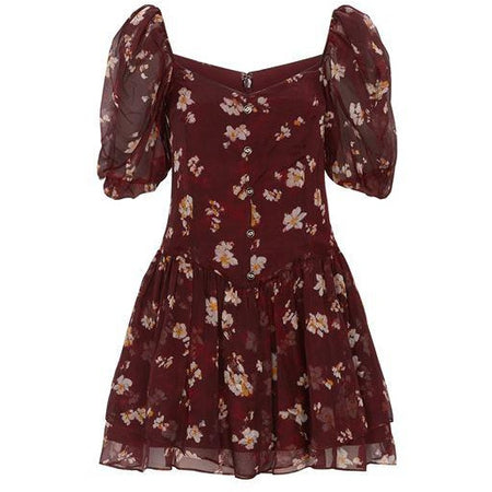Jaylah Dress Multi Anemone Floral