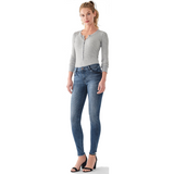 Florence Mid Rise Instasculpt Skinny Jean Barbon