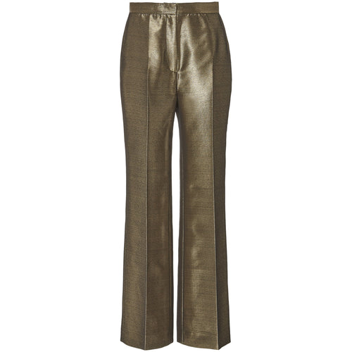 High Waisted Metallic Trouser