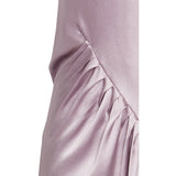 Gathered Silk-Satin Maxi Dress