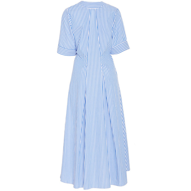 Wrap Dress Cobalt Stripe