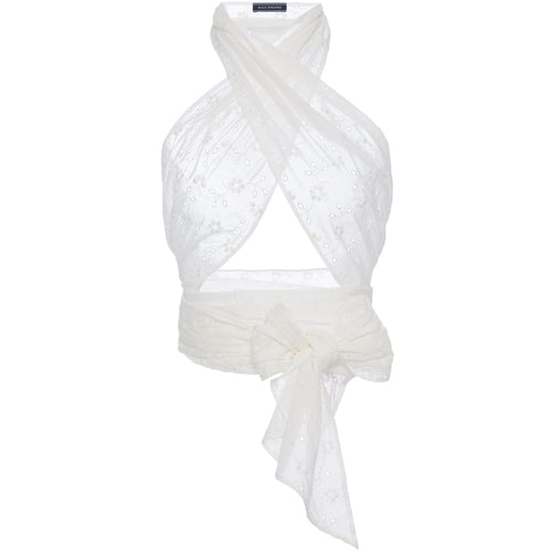 Everything Scarf White Eyelet