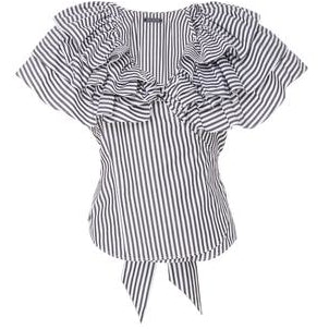 Lexi Ruffle Top Black Stripe