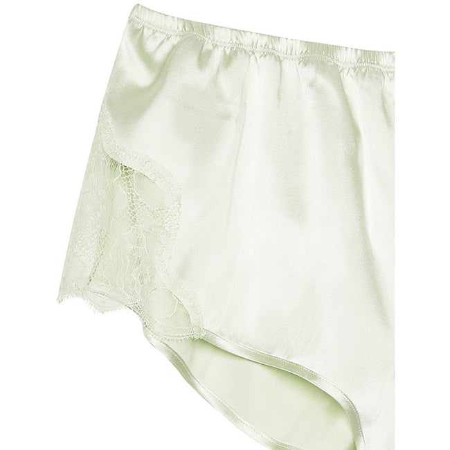 Rose Lace Tap Shorts Celadon