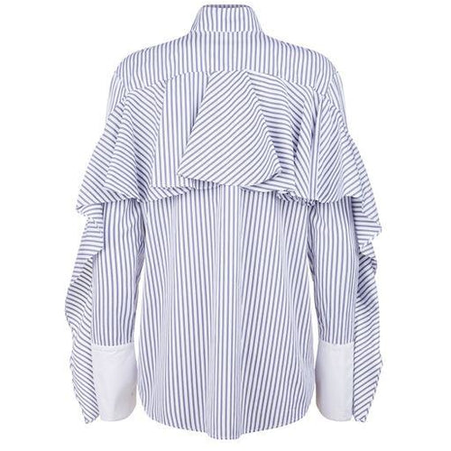 Ruffle Long Sleeve Shirt