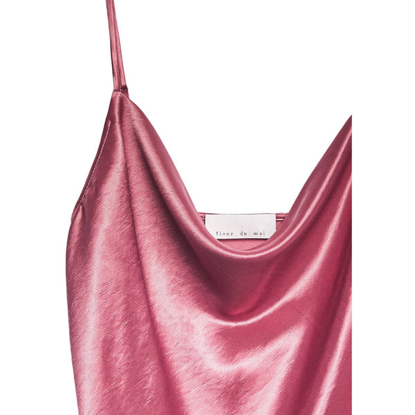 Cowl Neck Cami Shiny Rosewood