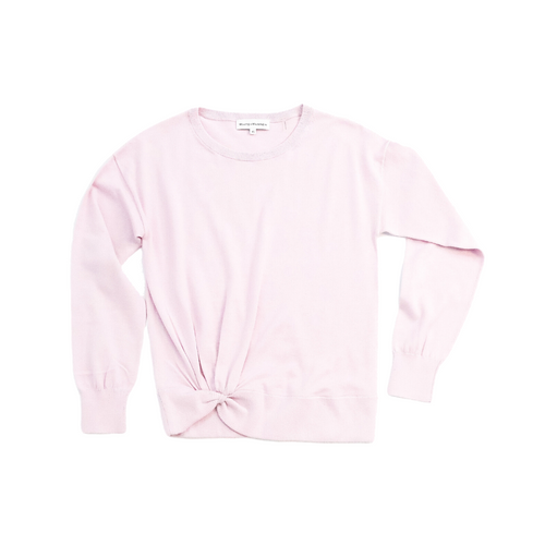Twisted Hem Crewneck Wild Flower Heather