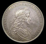 1667 Charles II Peace Of Breda 56mm Silver Medal By Roettiers - GEF