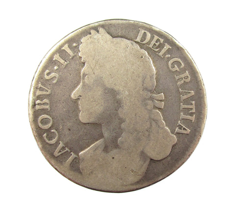 James II 1687 Crown - VF