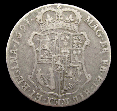 Scotland 1691 William & Mary 40 Shillings - VG