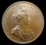 1694 Death Of Queen Mary 49mm Copper Medal - By Roettier