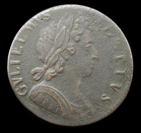 William III 1696 Halfpenny - Fine