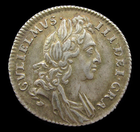 William III 1696 Sixpence - EF
