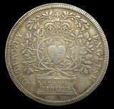 1702 Accession Of Queen Anne 35mm Silver Medal - By Croker