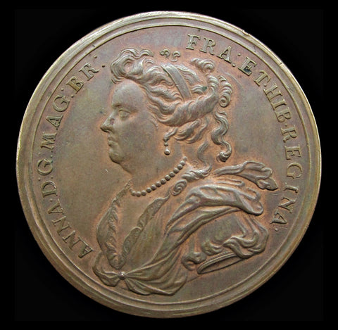 1703 Duke Of Marlborough Cities Captured Medal - By Croker