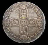 Anne 1705 Shilling - Plain In Angles - VF+