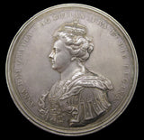 1707 Queen Anne Union Of Scotland & England 69mm Silver Medal - By Croker