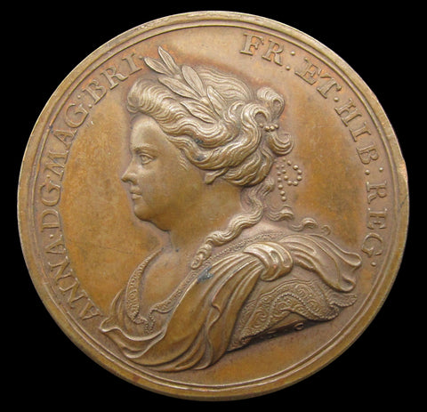 1713 Peace Of Utrecht 35mm Bronze Medal - By Croker