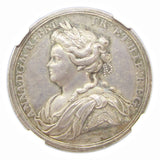 1713 Peace Of Utrecht Silver Medal - NGC MS62