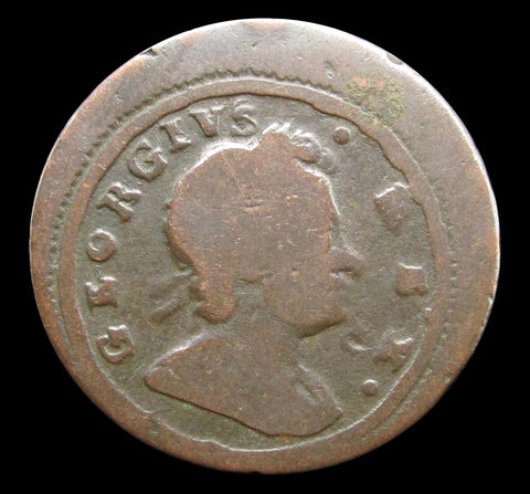 George I 1721 Farthing - Off Centre Error