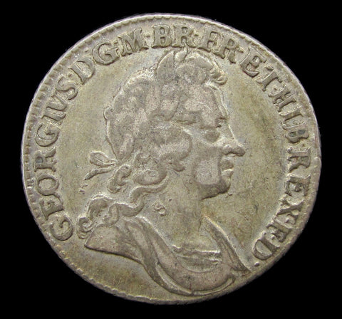 George I 1723 Shilling - SSC 2nd Bust - Good Fine