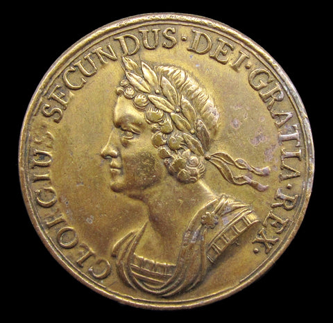 1743 Battle Of Dettingen Gilt Bronze 37mm Medal